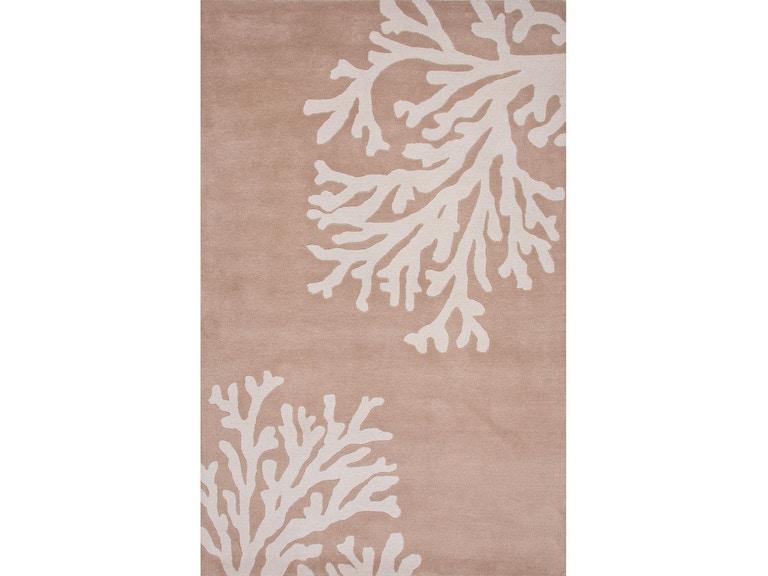 Jaipur Rugs Hand Tufted Coastal Pattern Taupe Tan Ivory White Wool