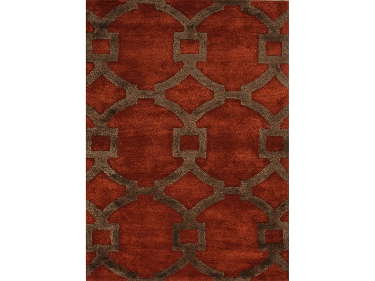 Jaipur Rugs Hand Tufted Geometric Pattern Wool Art Silk Red Brown Area Rug