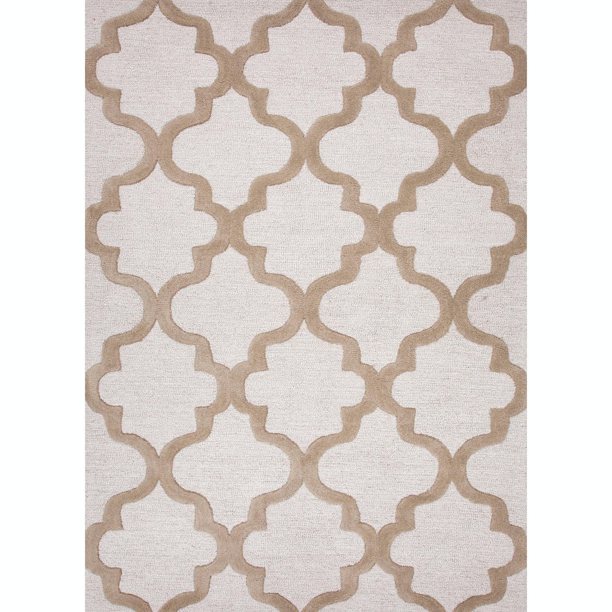 Jaipur Rugs Floor Coverings Hand Tufted Geometric Pattern Wool Ivory