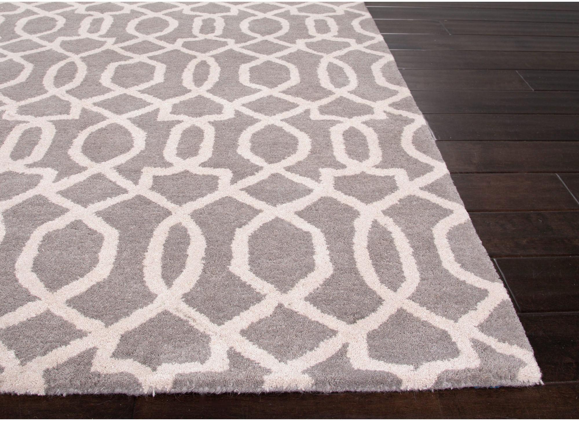 Jaipur Rugs Floor Coverings Hand Tufted Textured Wool Gray Ivory