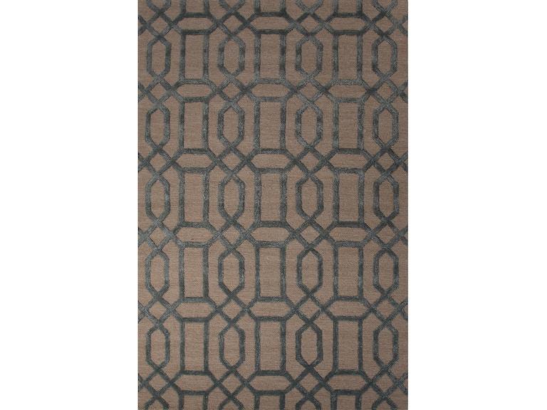 Jaipur Rugs Hand Tufted Geometric Pattern Ivory White Blue Wool Art
