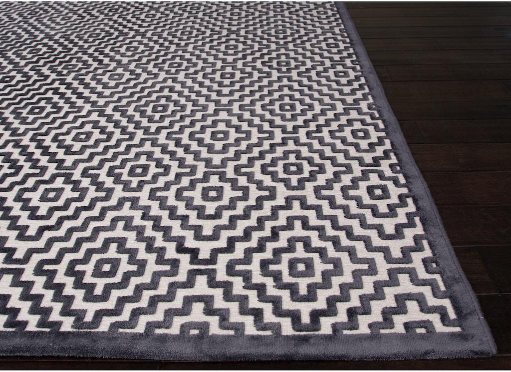 Jaipur Rugs Machine Made Geometric Pattern Ivory White Gray Rayon Chenille Area
