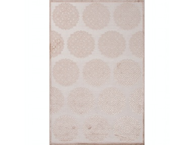 Jaipur Rugs Jaipur Machine Made Oriental Pattern Ivory & White/Taupe & Tan Rayon/Chenille Area Rug FB73
