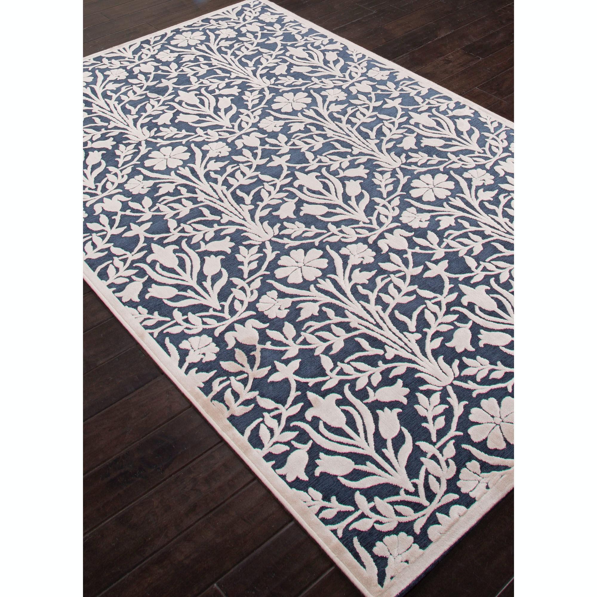 jaipur rugs jaipur machine made floral pattern blueivory u0026 white