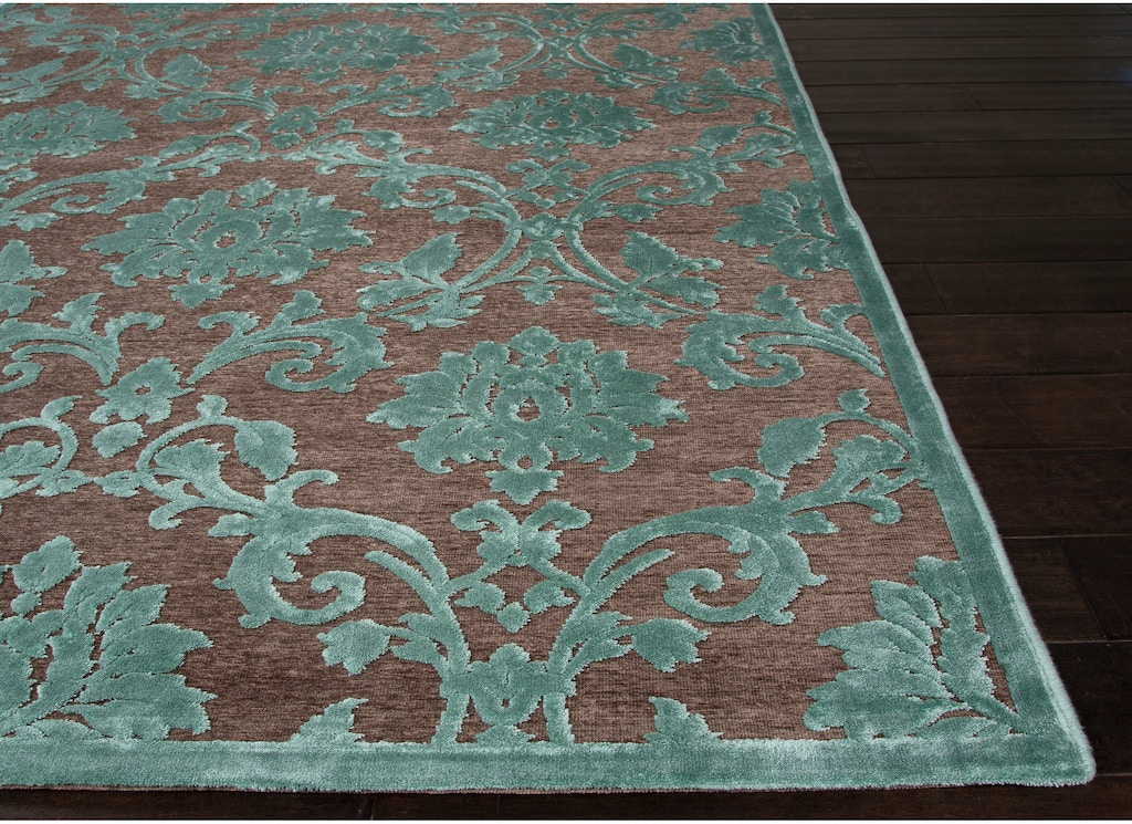 Jaipur Rugs Machine Made Fl Pattern Brown Blue Rayon Chenille Area Rug Fb86