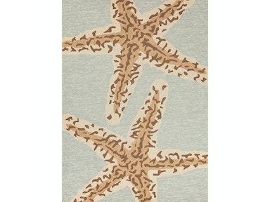 Jaipur Rugs Indoor-Outdoor Coastal Pattern Polypropylene Blue/Brown Area Rug GD19