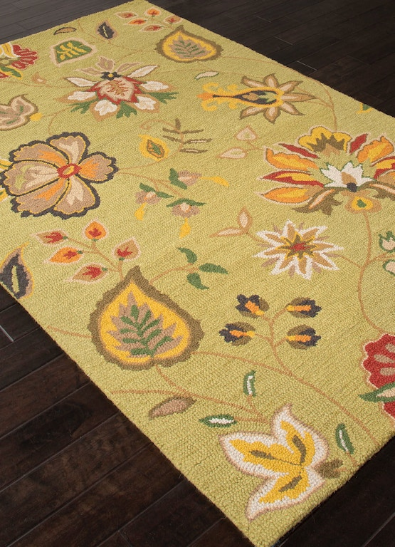 Jaipur Rugs Floor Coverings Hand Tufted Textured Wool Green Red Area