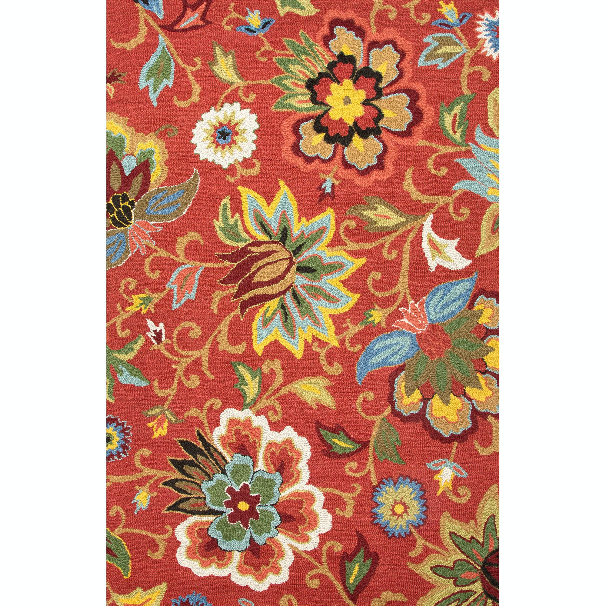 Jaipur Rugs Floor Coverings Hand Tufted Textured Wool Red Blue Area