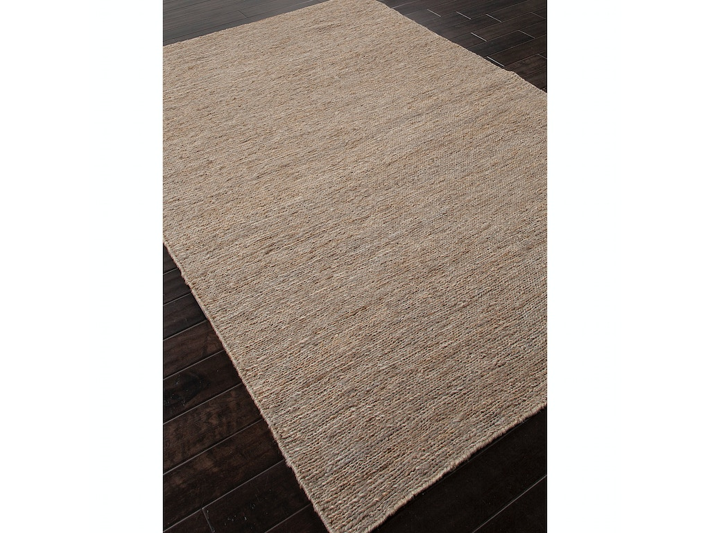 Jaipur Rugs Hu15 Floor Coverings Naturals Solid Pattern Hemp Gray Area Rug