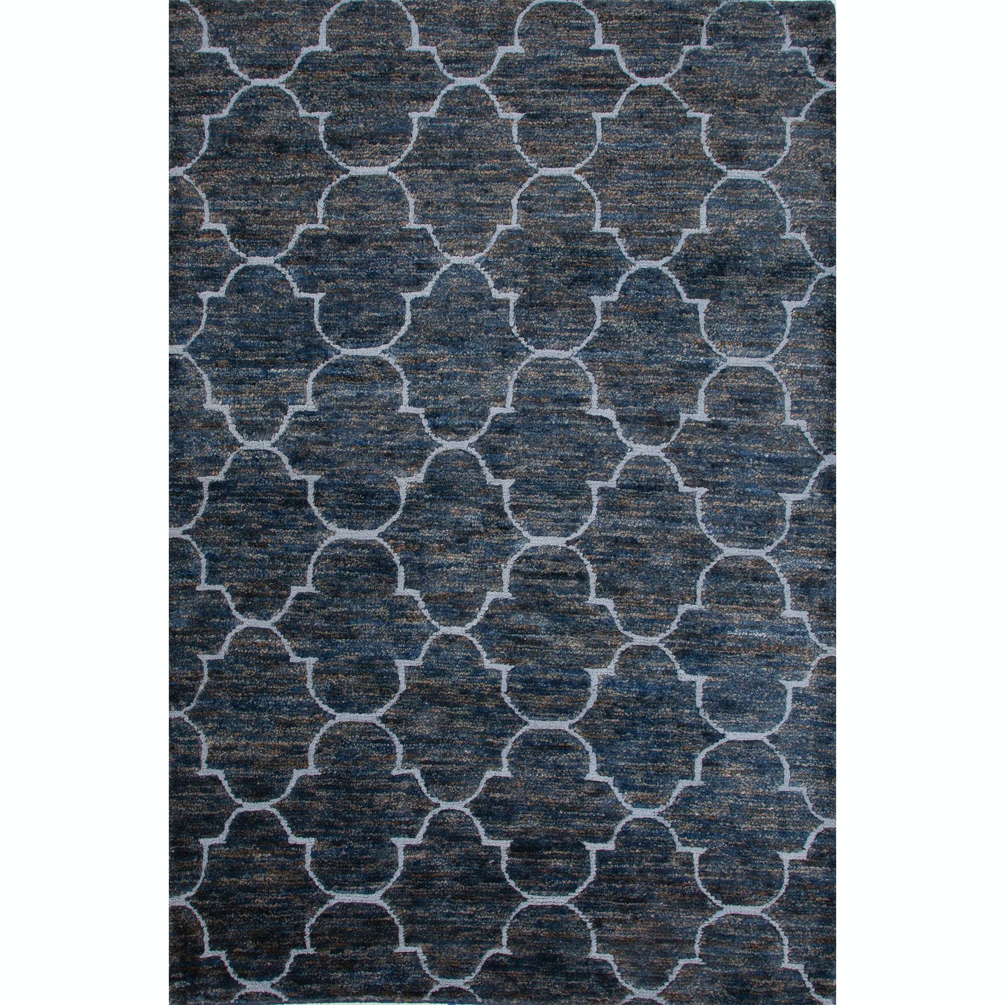 Floor Coverings Jaipur Naturals Moroccan Pattern Blue Jute Wool 2x3