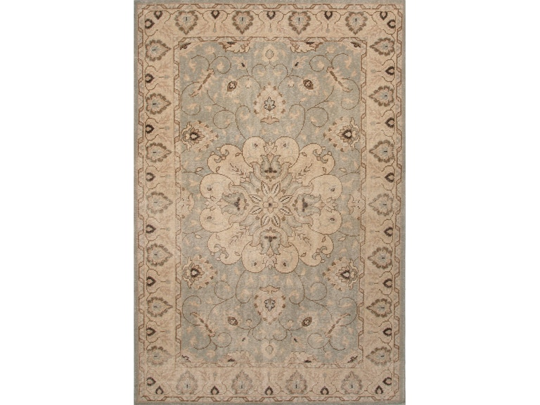 Jaipur Rugs Hand Knotted Oriental Pattern Blue Ivory White Wool 2x3