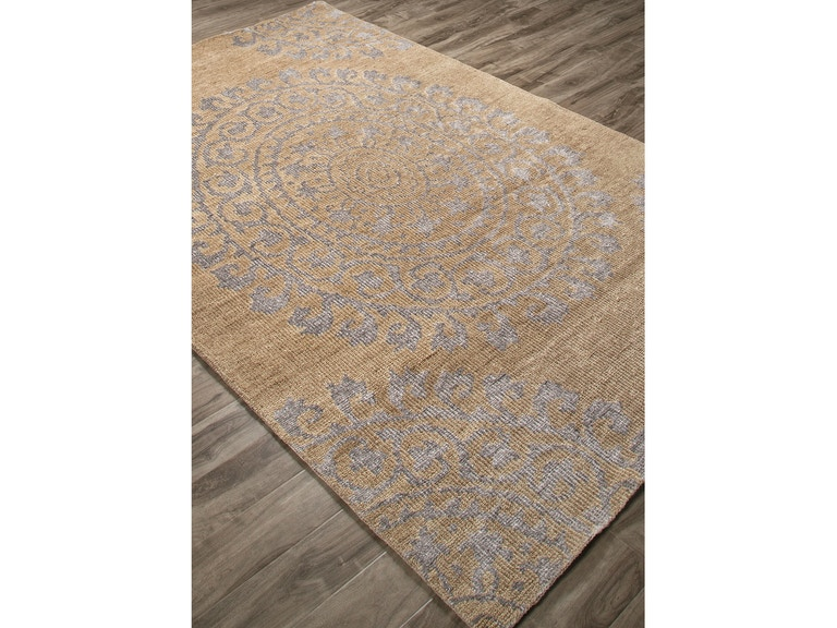 Jaipur Rugs Floor Coverings Jaipur Hand Knotted Floral Pattern Ivory White Brown Wool Art Silk