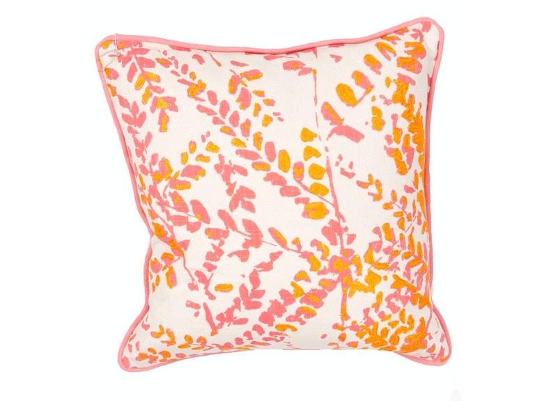 bc85d196b Jaipur Rugs Accessories Jaipur s Floral Pattern Pink Orange Cotton ...