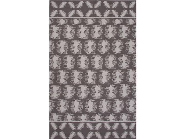 Jaipur Rugs Flat Weave Tribal Pattern Gray Ivory White Cotton 8x11