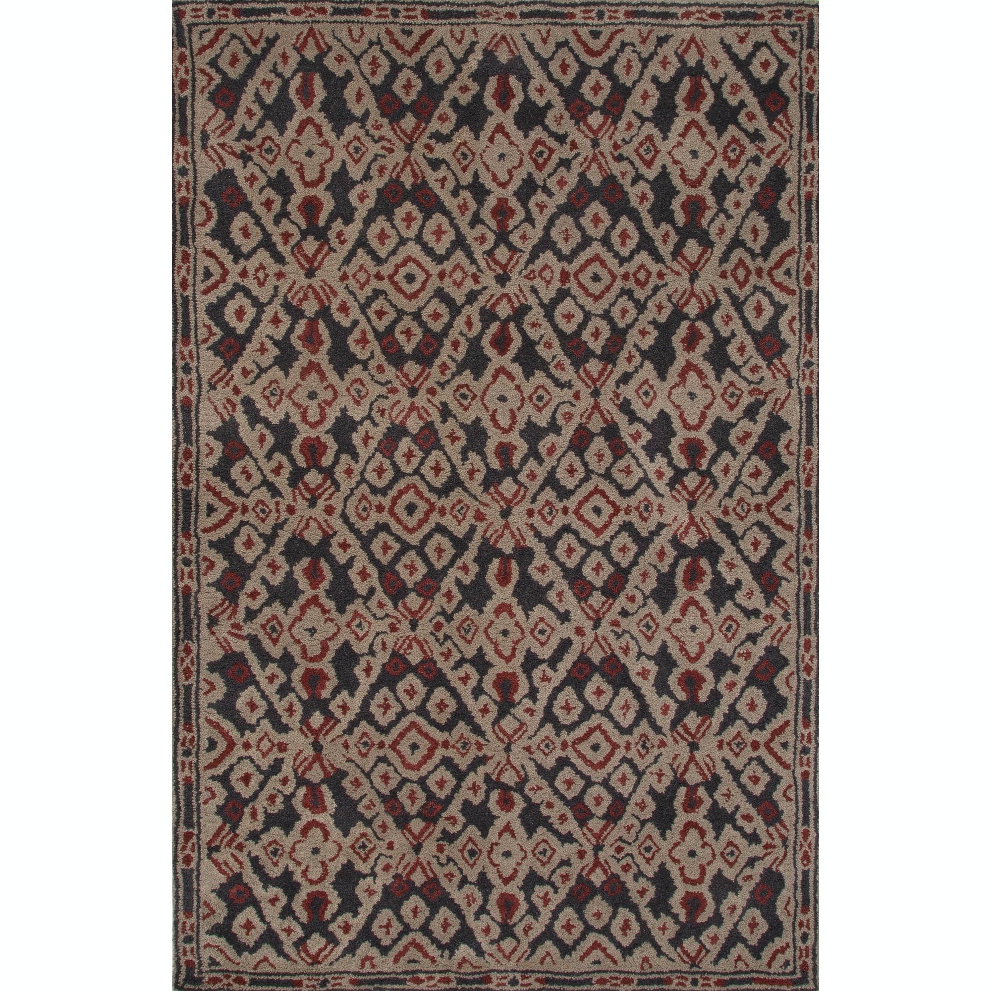 Jaipur Rugs Floor Coverings Jaipur Hand Tufted Tribal Pattern Black