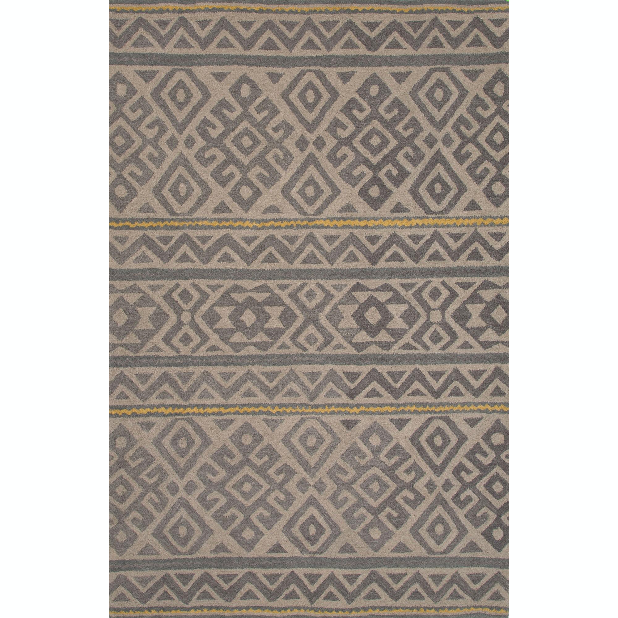Jaipur Rugs Floor Coverings Handmade Looped Cut Wool Black Gray