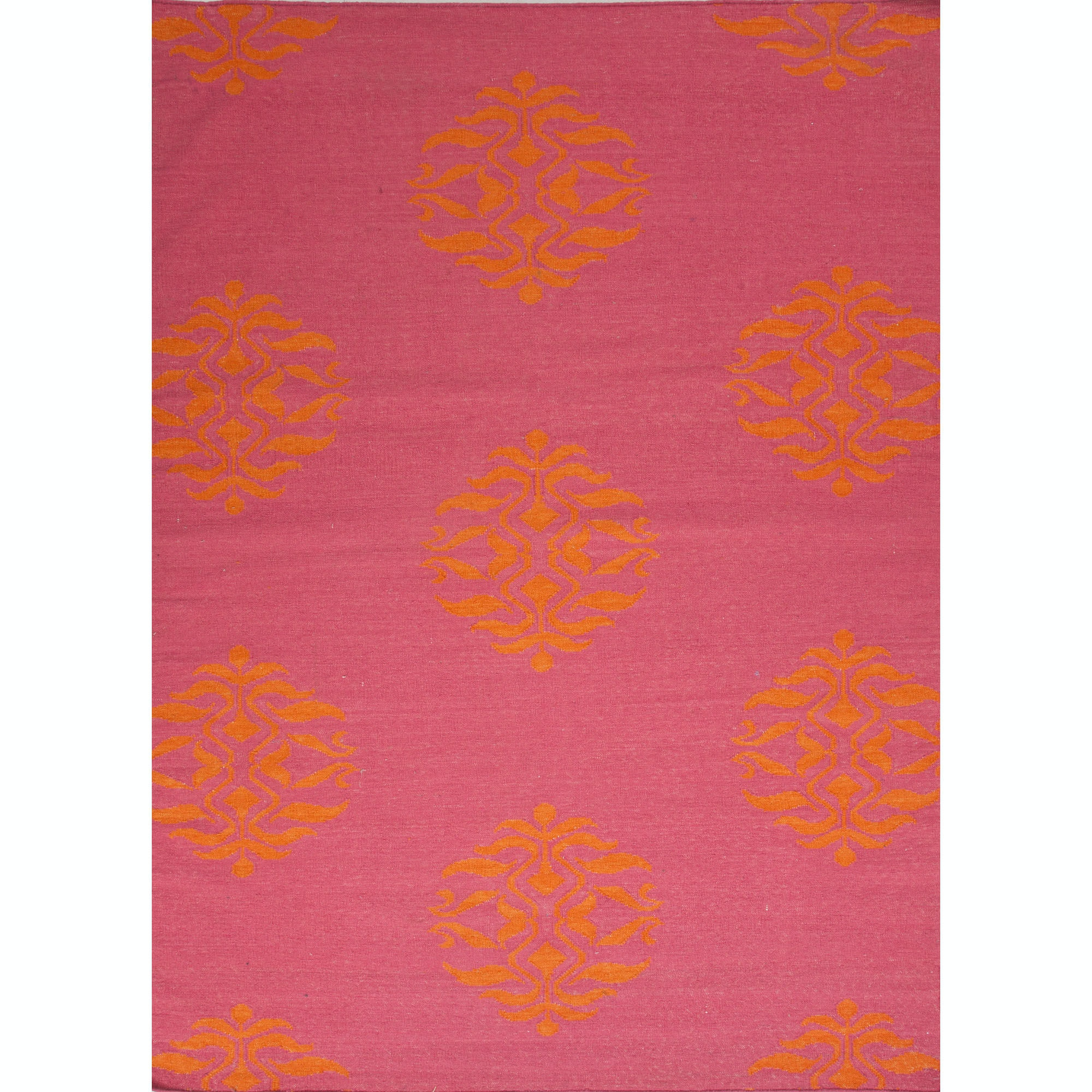 Jaipur Rugs Floor Coverings Flat Weave Tribal Pattern Wool Pink