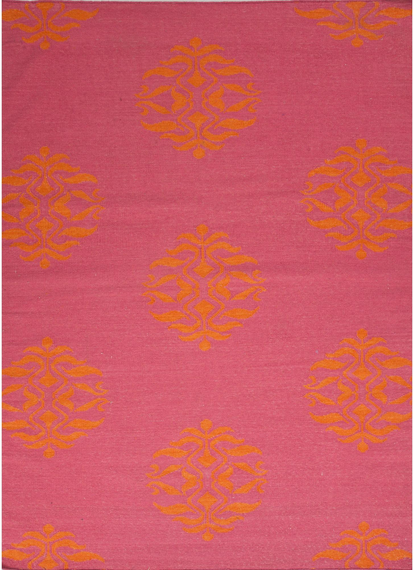 Jaipur Rugs Floor Coverings Flat Weave Tribal Pattern Wool Pink