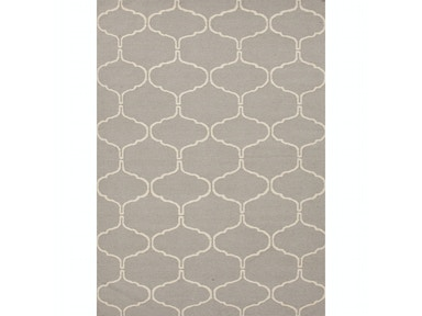 Jaipur Rugs Flat-Weave Moroccan Pattern Wool Gray/Ivory Area Rug MR66
