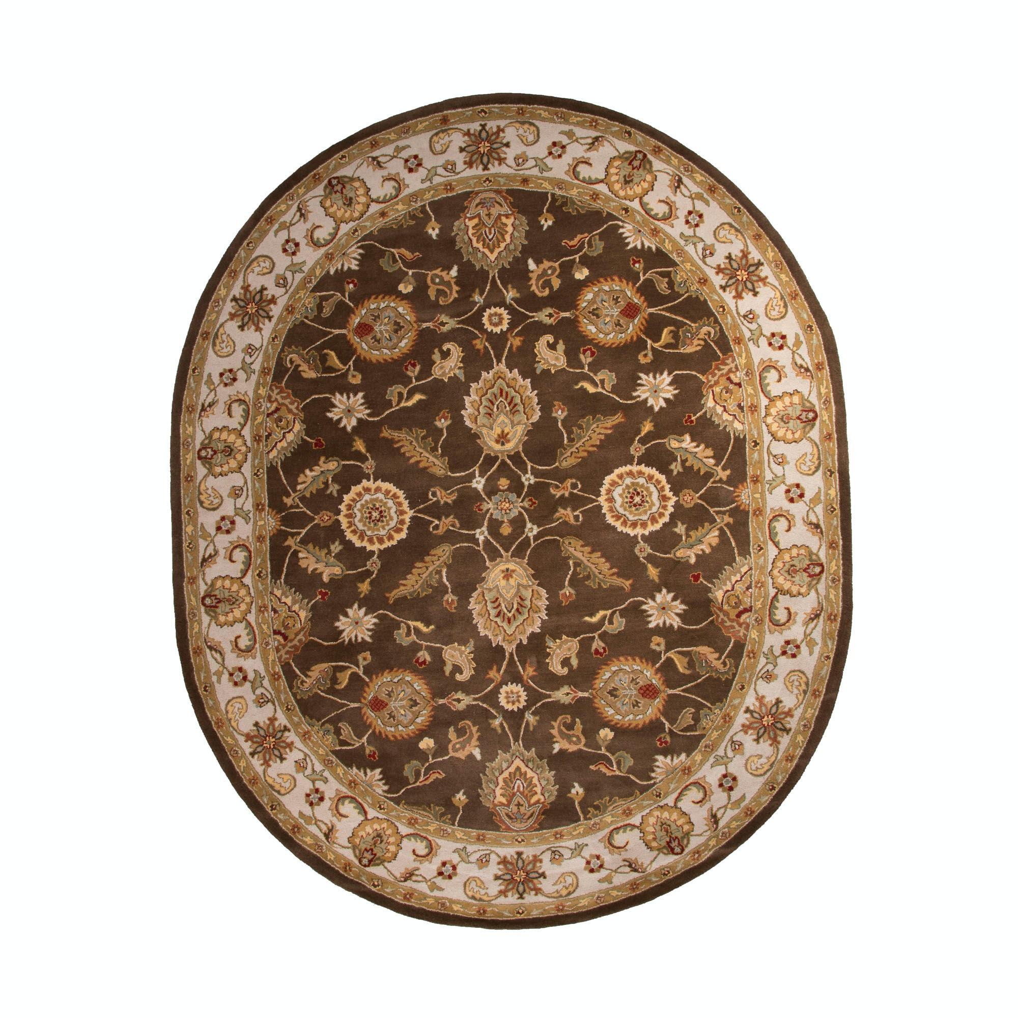 Jaipur Rugs Floor Coverings Hand Tufted Oriental Pattern Wool Brown