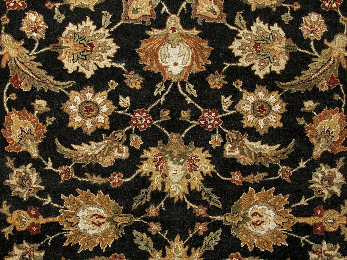 Jaipur Rugs Floor Coverings Hand Tufted Oriental Pattern Wool Black
