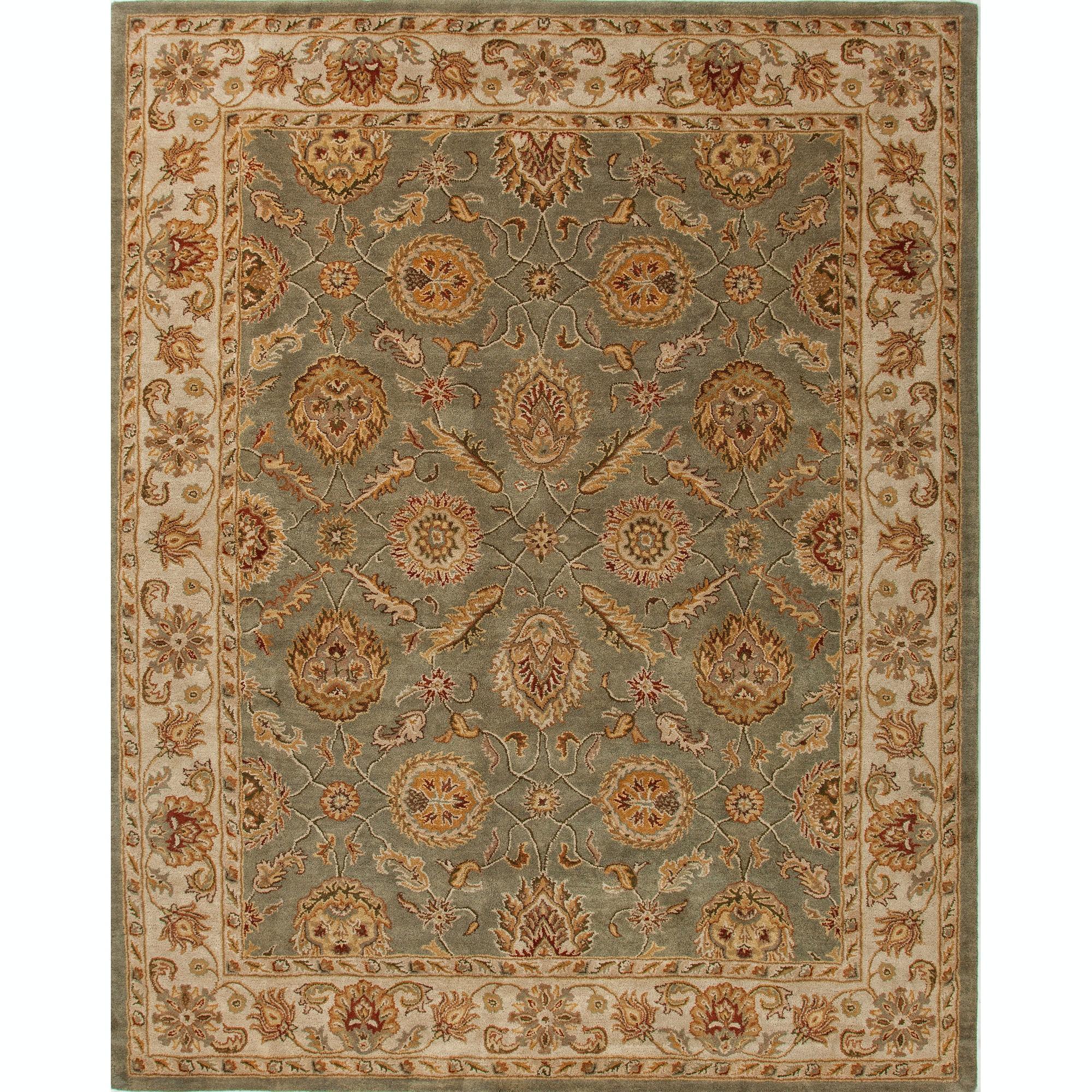 Jaipur Rugs Floor Coverings Hand Tufted Oriental Pattern Wool Green
