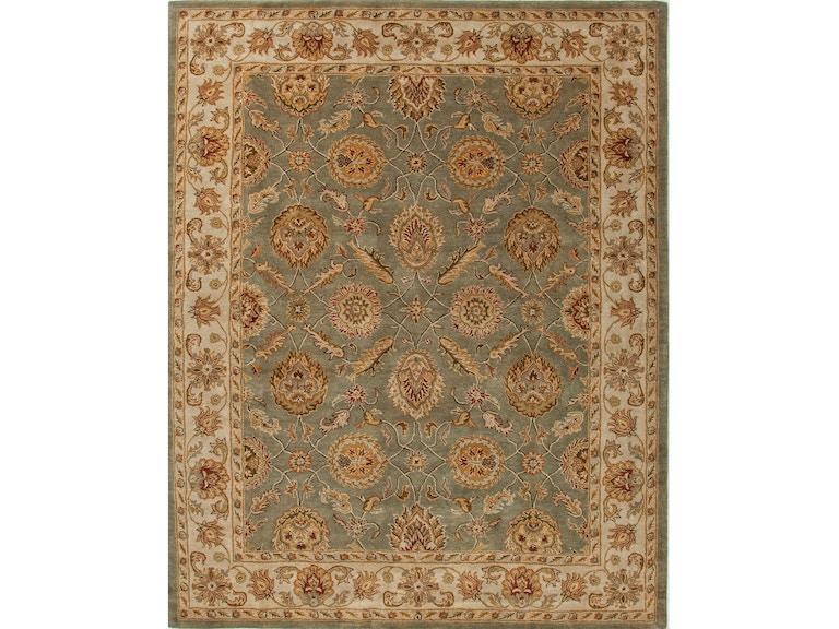 Jaipur Rugs Hand Tufted Oriental Pattern Wool Green Ivory Area Rug 12x18