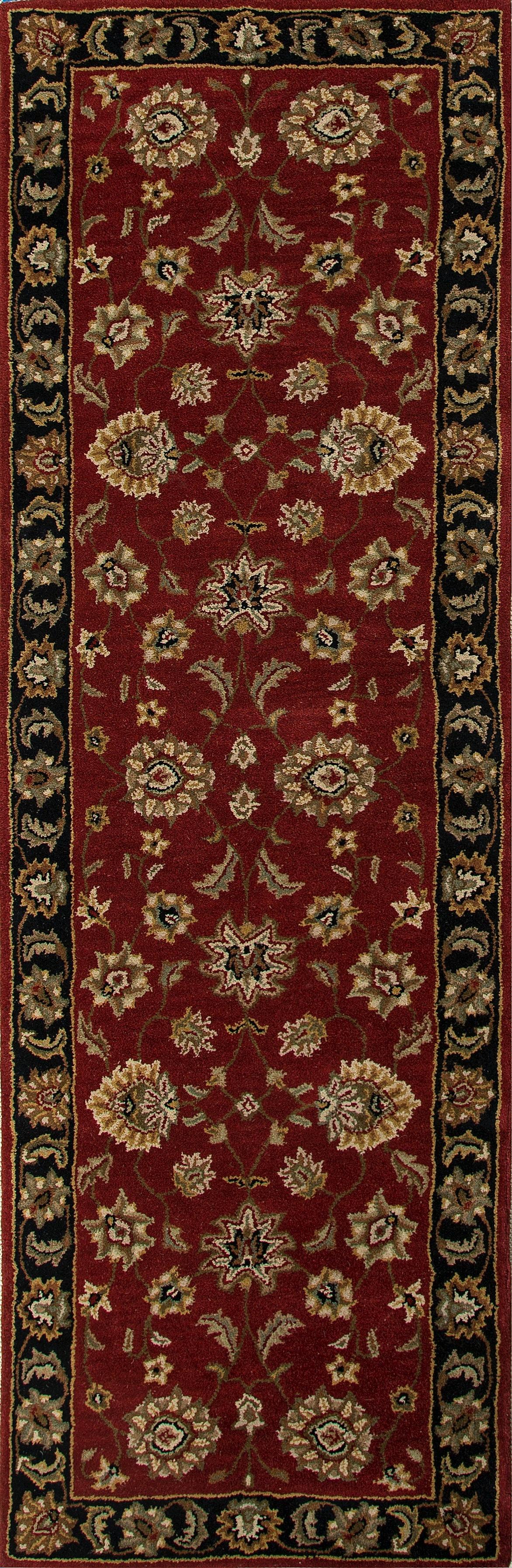 Jaipur Rugs Floor Coverings Hand Tufted Oriental Pattern Wool Red