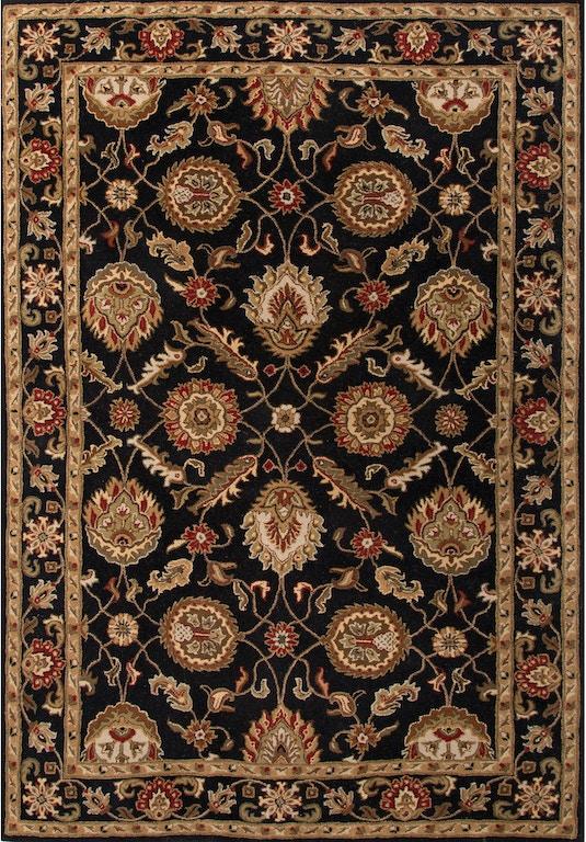 Jaipur Rugs Floor Coverings Hand Tufted Oriental Pattern Wool Black Red Area Rug My10 Quality
