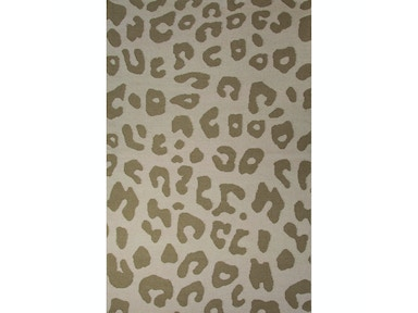 Jaipur Rugs Jaipur Flat-Weave Animal Print Pattern Tan Wool Area Rug NGF02