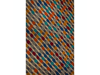 Jaipur Rugs Jaipur Hand-Tufted Geometric Pattern Multi Wool Area Rug NGT08