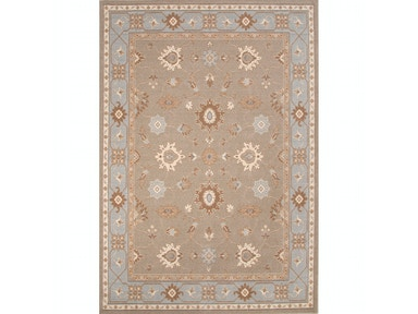 Jaipur Rugs Jaipur Machine Made Oriental Pattern Taupe & Tan/Blue Wool Area Rug ORE09