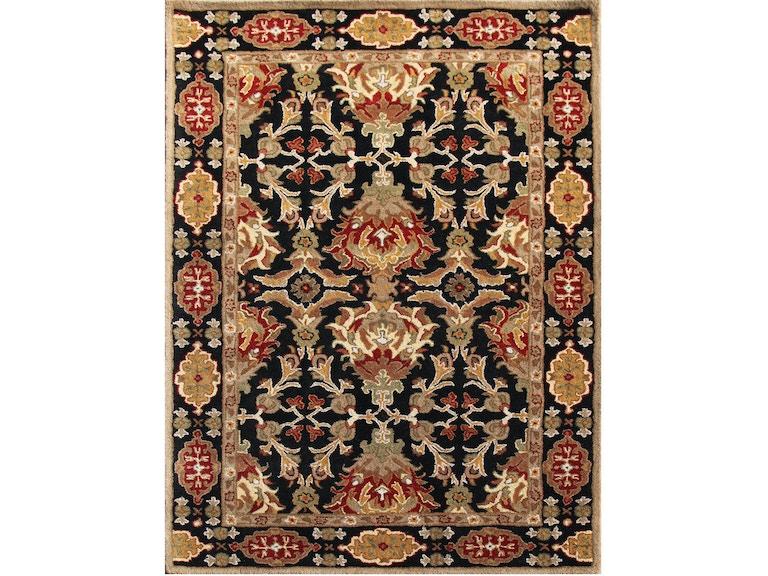Jaipur Rugs Floor Coverings Hand Tufted Durable Wool Black Red Area Rug Pm110 Carol House