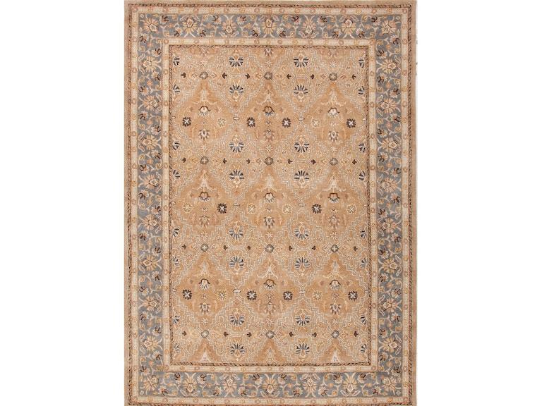 Jaipur Rugs Hand Tufted Oriental Pattern Wool Taupe Blue Area Rug 5x8