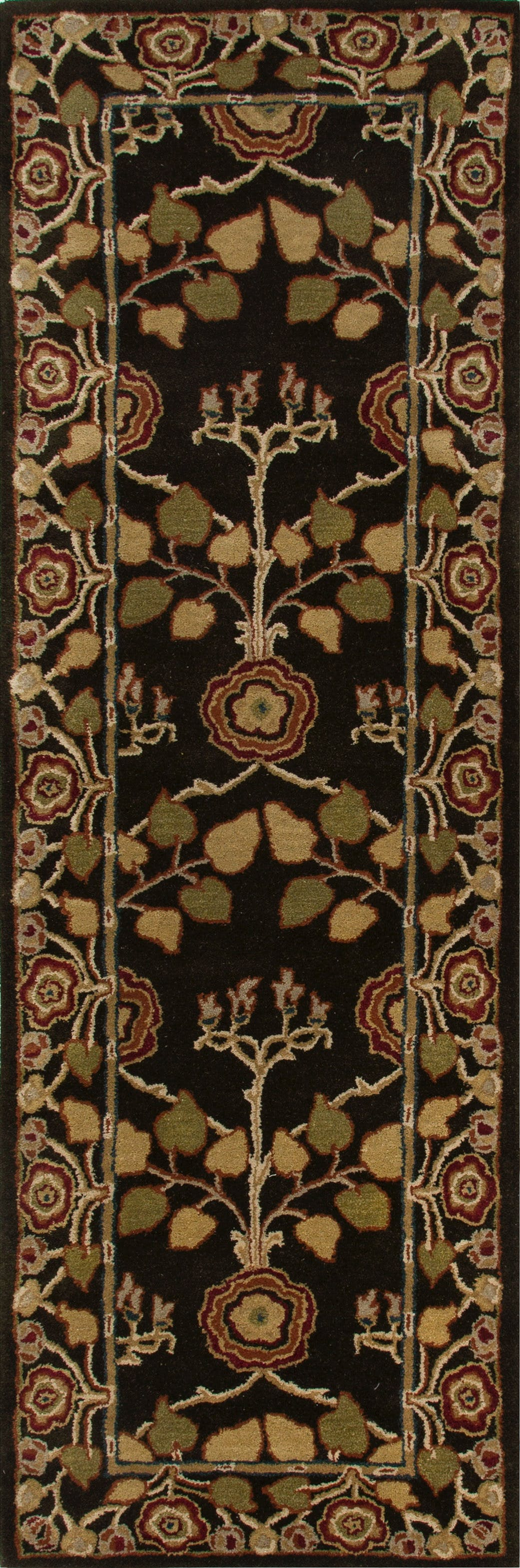 Picture of: Jaipur Rugs Floor Coverings Hand Tufted Arts And Craft Pattern Wool Brown Yellow Area Rug 8×10