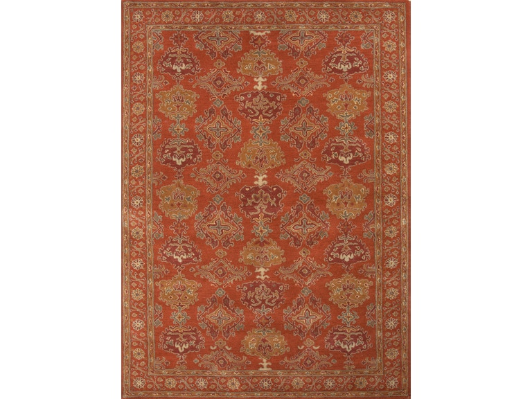 Jaipur Rugs Hand Tufted Oriental Pattern Wool Red Yellow Area Rug Pm88