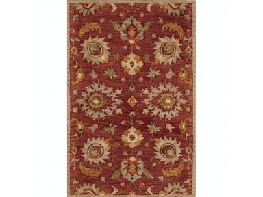 Jaipur Rugs Jaipur Hand-Tufted Floral Pattern Red/Ivory & White Wool Area Rug REV01