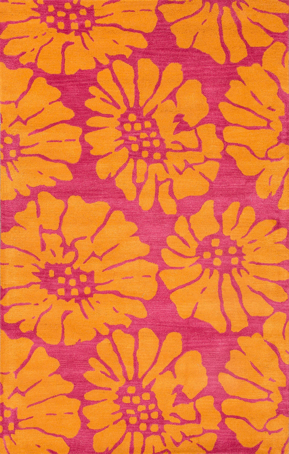 Jaipur Rugs Floor Coverings Hand Tufted Durable Wool Pink Orange