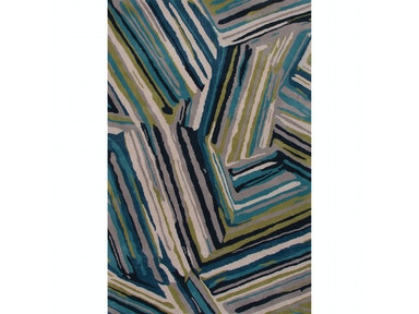 Jaipur Rugs Jaipur Hand-Tufted Geometric Pattern Blue Wool Area Rug TV59