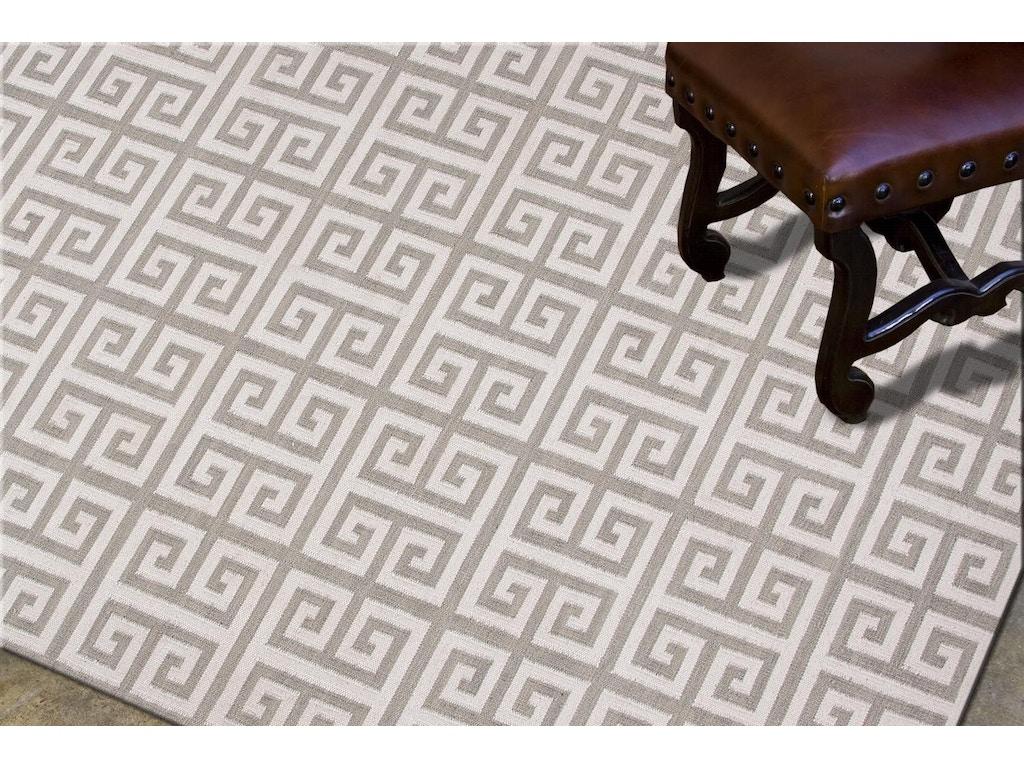 Jaipur Rugs Flat Weave Geometric Pattern Wool Ivory Gray Area Rug 9x12