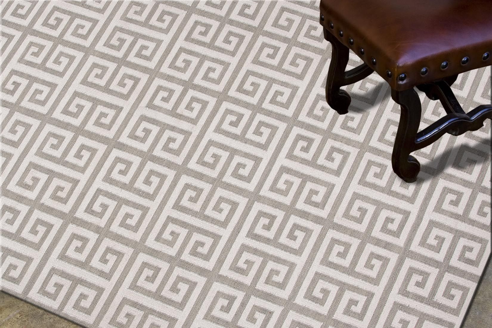 jaipur rugs flatweave geometric pattern wool ivorygray area rug 9x12