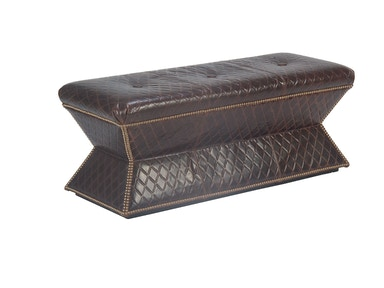 Chaddock Faceted Bench (Leather) L-0416-63