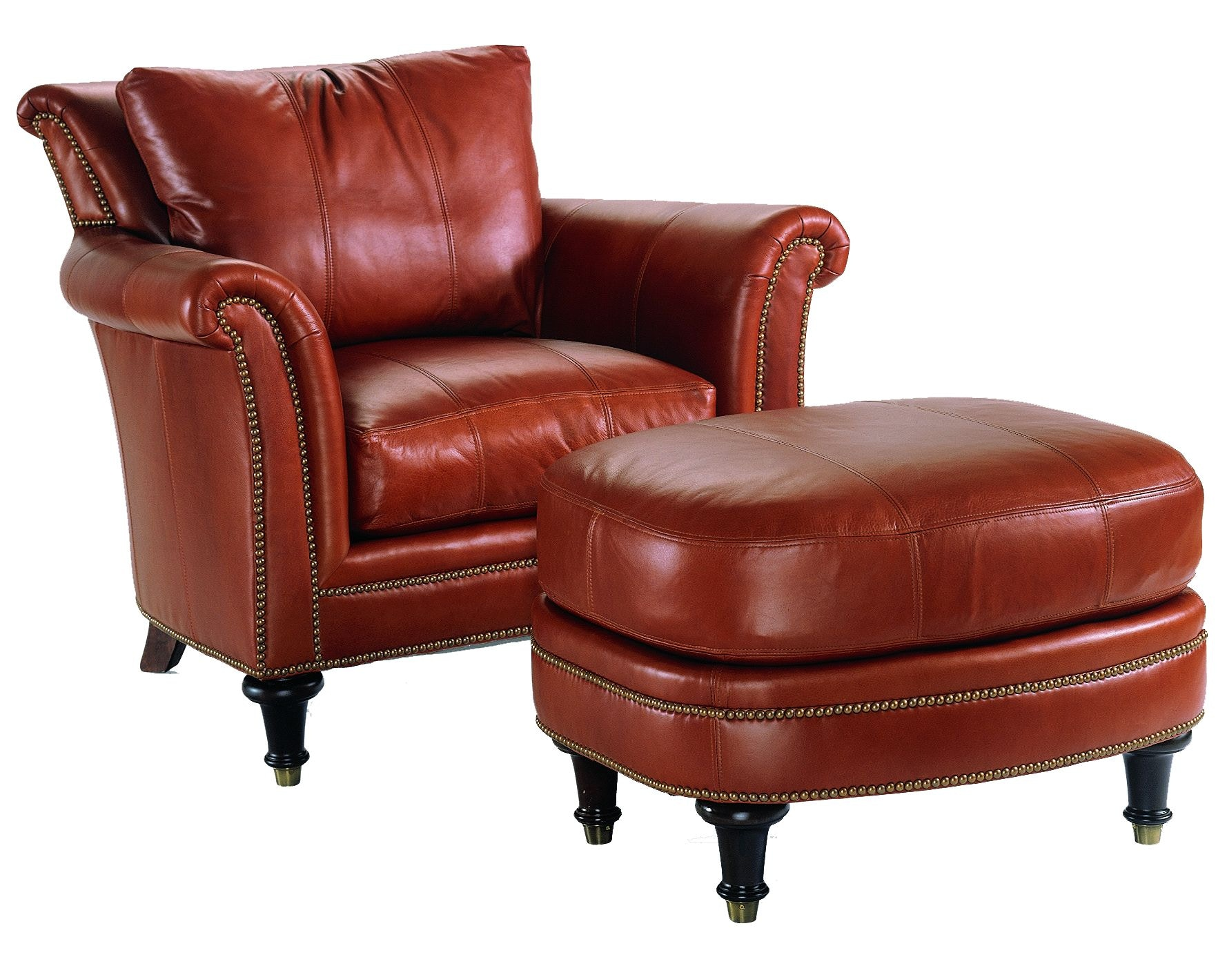 Charming Available In Choice Of Fabric Or Leather And Customization Is Possible.  Surrey Chair (Leather) L 9927 1 Chaddock
