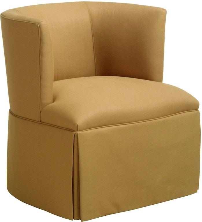 Remarkable Chaddock U0515 1 Living Room Petite Barrel Back Swivel Chair Theyellowbook Wood Chair Design Ideas Theyellowbookinfo