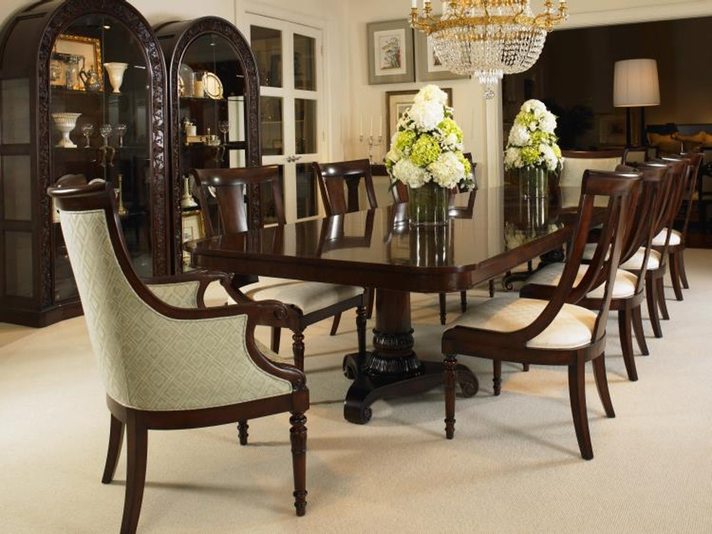 Century furniture dining room double pedestal dining table for Furniture vancouver wa