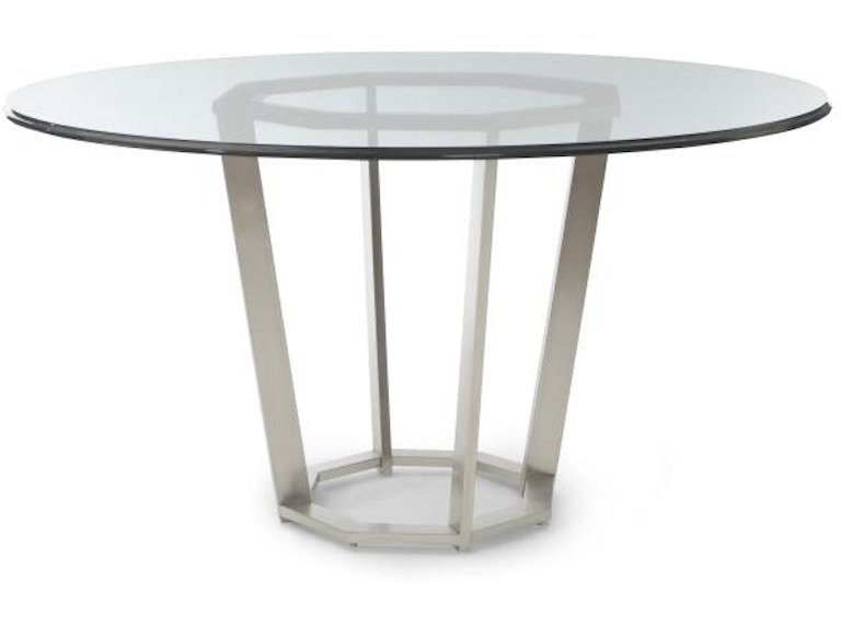 Fair Park Metal Base Dining Table With Glass Top