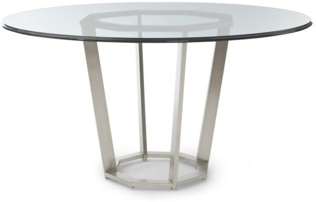 Century Furniture Dining Room Fair Park Metal Base Table With Glass Top 41A 305 At Toms Price