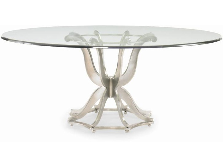 Century Furniture Dining Room Metal Base Table With