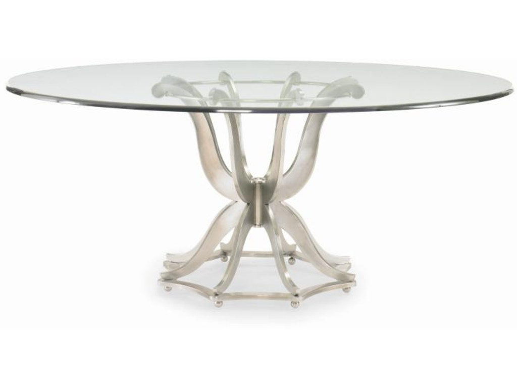 Century furniture dining room metal base dining table with for Century furniture