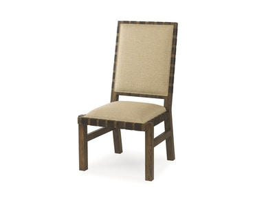 Century Furniture Sierra Dining Side Chair With Leather Strap Trim 709-521